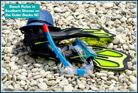 OBREC Southern Shores beach rules - snorkeling