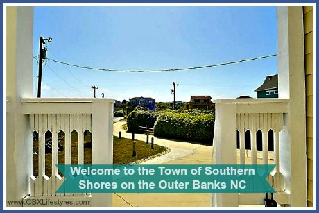 OBREC Southern Shores welcome to the town - driveway